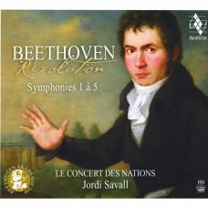 (3SACD)貝多芬:交響曲(第1-5號) 約第.沙瓦爾 指揮 國家古樂合奏團Jordi Savall / Beethoven: Symphonies Nos. 1 - 5
