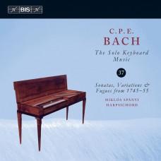 巴哈:鍵盤獨奏音樂 第37集  米克羅許.史帕尼 大鍵琴Miklos Spanyi / C.P.E. Bach: Solo Keyboard Music, Vol. 37