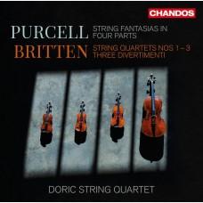 布列頓: 弦樂四重奏1~3號, 三首嬉遊曲 / 普塞爾: 幻想曲 多利克弦樂四重奏Doric String Quartet / Britten: String Quartets 1-3, Three Divertimenti / Purcell: Fantasias