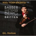 (2CD)1930年代小提琴協奏曲,第一集 吉爾.夏漢 小提琴 大衛.羅伯森 指揮 紐約愛樂管弦樂團Gil Shaham / 1930s Violin Concertos, Vol. 1
