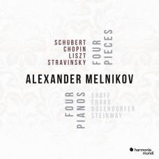 蕭邦,舒伯特,李斯特,史特拉汶斯基: 四首音樂, 四部鋼琴 亞歷山大.梅尼可夫 鋼琴 / Alexander Melnikov / 4 Songs 4 Pianos