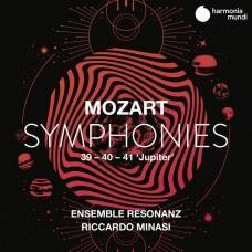 莫札特:第39,40,41號(朱彼得)交響曲 黎卡多.米納西 指揮 共鳴合奏團Riccardo Minasi, Ensemble Resonanz / Mozart: Symphonies Nos. 39, 40 & 41 'Jupiter'
