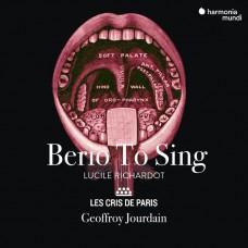 貝里歐的歌唱 露西.黎夏朵 女中音 喬丹 指揮 來自巴黎的呼喚樂團Les Cris de Paris / Berio To Sing