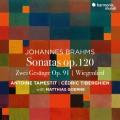 布拉姆斯: 中提琴奏鳴曲作品120 / 搖籃曲 / 2首歌曲集 塔梅斯提 中提琴 提貝岡 鋼琴 馬提亞斯.葛納 男中音Tamestit, Tiberghien / Brahms: Viola Sonatas & Zwei Gesange Op. 91