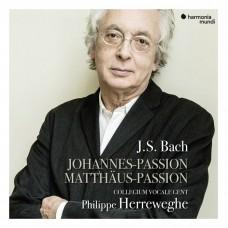 巴哈:馬太受難曲/聖約翰受難曲 菲利普.赫瑞維賀 指揮 根特合唱團(5CD)Philippe Herreweghe / J.S. BACH The St John & St Matthew Passions