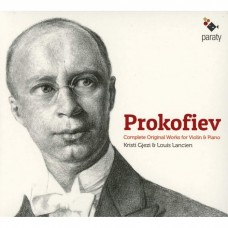 """普羅高菲夫:小提琴原創作品(奏鳴曲/短曲)  克里斯蒂·吉茲 小提琴 路易.隆榭 鋼琴""""Kristi Gjezi & Louis Lancien /  Prokofiev: Complete Original Works for Violin & Piano """""""