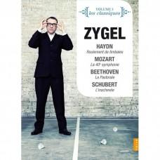 (4PAL-DVD)莫札特/海頓/貝多芬交響曲 塞傑 解說 法國廣播愛樂管弦樂團Zygel / Symphonies By Haydn, Mozart, Beethoven, Schubert