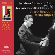 巴哈:夏康舞曲(布梭尼改編) / 貝多芬: 鋼琴奏鳴曲,第3號 米開蘭傑利 鋼琴 / Michelangeli / Bach/Busoni: Chaconne Aus Partita BWV1004