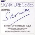 索羅門HMV首張專輯:1942-43年 布拉姆斯&貝多芬(簽名系列) Solomon:The First HMV Recordings 1942-43
