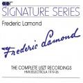 費德烈克•拉蒙德 HMV李斯特錄音全集 1919-36年(簽名系列) Lamond-The Complete Liszt Recordings 1919-36