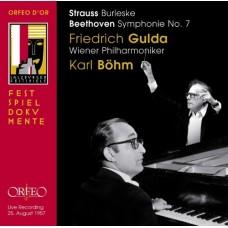 貝多芬:第七號交響曲、理查.史特勞斯:給鋼琴與管弦樂團的詼諧曲 Beethoven:Symphony No.7、Strauss, R:Burleske for Piano and orchestra in D minor (Live Recording Salzburg 1957)