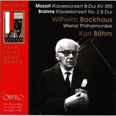 莫札特、布拉姆斯:鋼琴協奏曲 1960&1968年薩爾茲堡音樂節現場錄音 Wilhelm Backhaus plays Mozart & Brahms  Live Recording 1960