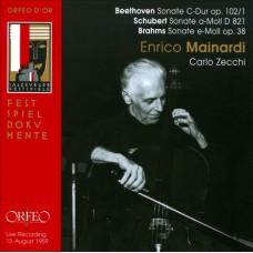 貝多芬、舒伯特、布拉姆斯:大提琴奏鳴曲 Beethoven、Schubert、Brahms:Cello Sonatas Live Recording 1959.8.13