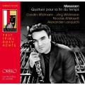 梅湘:四重奏「時間的盡頭」(約格.魏德曼, 豎笛) Messiaen:Quatuor pour la fin du temps (Carolin Widmann, violin / Jörg Widmann, clarinet / Nicolas Altstaedt, cello / Alexander Lonquich, piano)