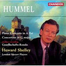 胡麥爾:降A大調鋼琴協奏曲、G大調小協奏曲、協會輪旋曲 Hummel:Piano Concerto、Concertino ect. (Shelley, London Mozart Players)