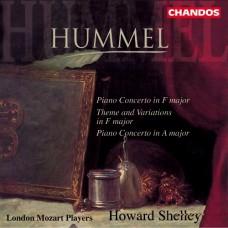 胡麥爾:F大調鋼琴協奏曲、F大調主題與變奏、A大調鋼琴協奏曲 Hummel:Piano Concertos etc. (Shelley, London Mozart Players)
