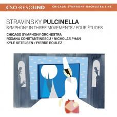 (SACD)史特拉文斯基:普欽內拉、三樂章交響曲、四首練習曲 (布列茲 / 芝加哥交響樂團) Stravinsky:Pulcinella、Symphony in Three Movements & Four Études (Pierre Boulez / CSO)