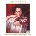 吉奈.努芙最後現場錄音 Ginette Neveu:Her Last Recordings