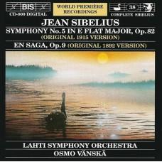 西貝流士:第五號交響曲、傳奇 Sibelius:Symphony No. 5 / En Saga