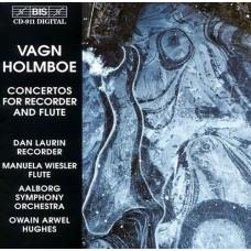 霍姆波:直笛與長笛協奏曲 Holmboe:Concertos for Recorder & Flute (D. Laurin, M. Wiesler, Aalborg Symphony Orchestra, Owain Arwel Hughes)