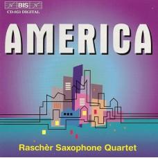 美國薩克斯風四重奏作品 (拉榭爾薩克斯風四重奏) America Music for Saxophone Quartet (Raschèr Saxophone Quartet)