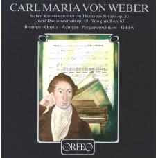韋伯:七首西爾華納主題變奏曲, 作品33、輝煌高技巧的二重奏, 作品48、G小調三重奏, 作品63 Weber:Grand Duo Concertant, Variationen, Trio