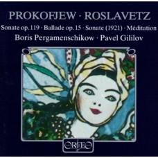 普羅高菲夫、羅斯拉維茲:大提琴作品集 (佩爾加曼席可夫, 大提琴 / 帕維爾.基里洛夫, 鋼琴) Prokofiev、Roslavetz:Works for cello and piano (Boris Pergamenschikow, cello / Pavel Gililov, piano)