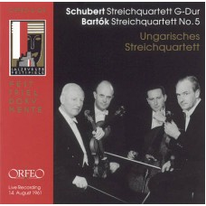 舒伯特:G大調第15號弦樂四重奏   巴爾托克:第5號弦樂四重奏 Schubert:String Quartet No. 15 in G major, D887   Bartók:String Quartet No. 5 (Hungarian String Quartet)