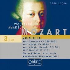 莫札特:五重奏編曲集 (迪特.克洛克, 豎笛 / 曼海姆弦樂四重奏) Mozart:Quintette (Dieter Klöcker, clarinet / Mannheim String Quartet)
