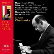 徹卡斯基一九六一年薩爾茲堡音樂節現場~莫札特、舒曼、穆索斯基、巴伯、蕭邦 Shura Cherkassky Recital, Salzburg 1961