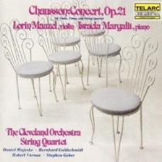蕭頌:協奏曲作品二十一 Chausson: Concert for Violin. Piano & String Quartet Maazel