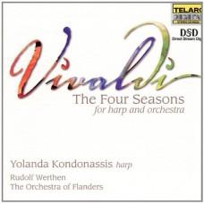 韋瓦第:《四季》豎琴協奏曲(附加:巴哈魯特琴組曲之改編曲)  Vivaldi:The Four Seasons (For Harp and Orchestra)  / I Fiamminghi (The Orchestra of Flanders)