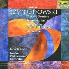 齊瑪諾夫斯基:第二號交響曲∕協奏序曲∕狂喜報時者之歌∕字之歌  Szymanowski : Symphony No.2/ Concert Overture/ Songs of the Infatuated Muezzin/ Slopiewnie