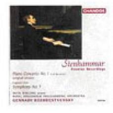 史坦哈瑪:第一號鋼琴協奏曲原曲版、第三號交響曲殘稿(世界首度錄音)Stenhammar: Piano Concerto No.1 etc - Mats Widlund, piano  / Royal Stockholm Philharmonic Orchestra . Gennady Rozhdestvensky, conductor