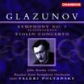 葛拉祖諾夫:第一號《斯拉夫》交響曲∕小提琴協奏曲 Glazunov:Symphony No.1/Violin Concerto-Krasko/Rsso/Polyansky